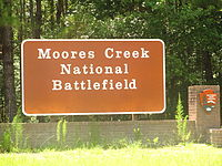 Moores Creek Battlefield sign IMG 4459.JPG