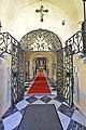 Moosburg Pfarrkirche Eingang barockes Schmiedeeisengitter 21032013 266.jpg
