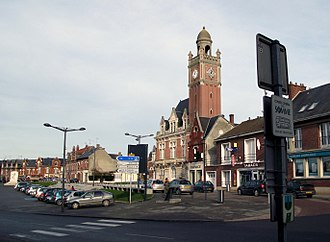 Moreuil - The town hall square in Moreuil