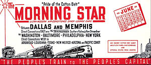 Morning Star (train) - Advertising blotter for the Morning Star in June 1941.