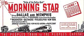 Morning Star (train) - Advertising blotter for the Morning Star in June 1941.