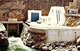 Morrow Point Dam - Morrow Point Powerplant exterior