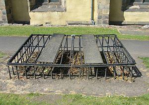 Mortsafe - Mortsafe in Greyfriars Kirkyard, Edinburgh