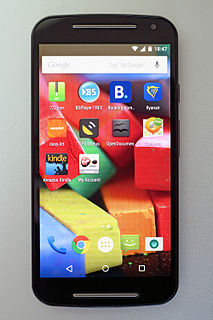 Android smartphone developed by Motorola Mobility