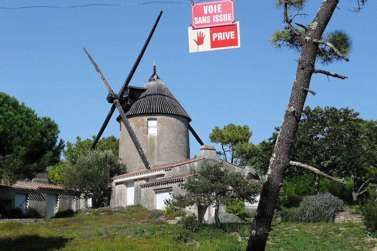 List of windmills in vend e wikipedia - Moulin de la borderie ...