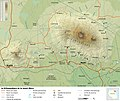 Mount Kilimanjaro and Mount Meru map-fr.jpg