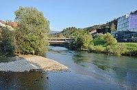 Mouth Rantenbach to Mur river, Murau.jpg