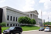 The Minneapolis Institute of Arts' Beaux-Arts north facade, designed by McKim, Mead, and White.