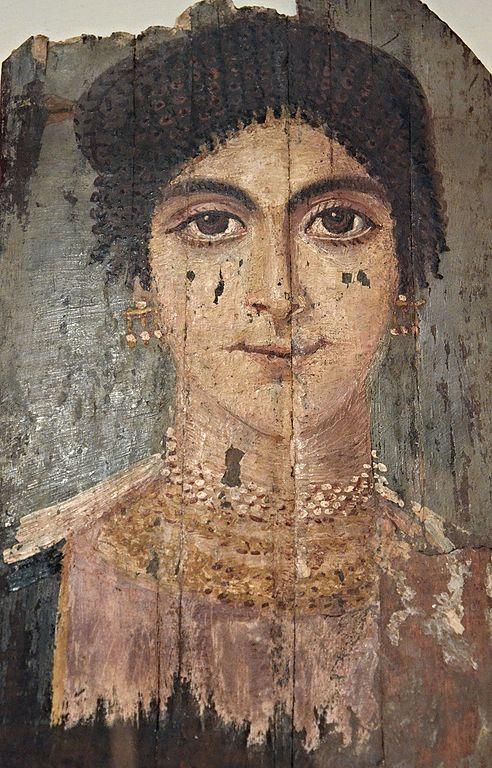 Portrait de Fayoum : Portait d'une jeune femme.