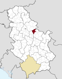 Location o the municipality ofPožarevac within Serbie