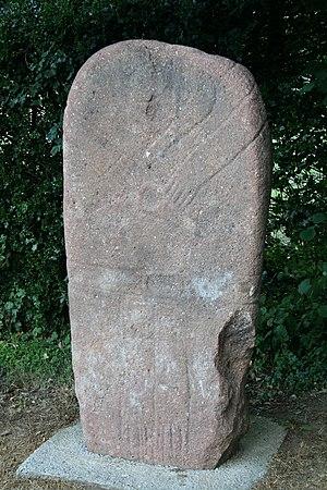Statue menhir - Image: Murat Statue menhir paillemalbiau
