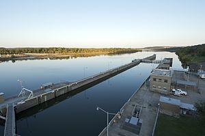 McClellan–Kerr Arkansas River Navigation System - Murray Lock in Little Rock, Arkansas
