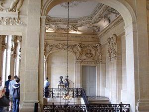 Musée Picasso - Stair hall (escalier d'honneur) of the Hôtel Salé