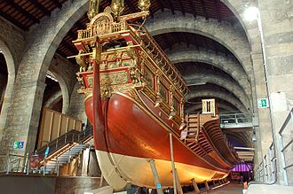 Barcelona Royal Shipyard - Reproduction of the royal galley of John of Austria at the Barcelona Maritime Museum