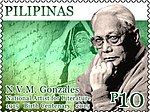 N. V. M. Gonzalez 2015 stamp of the Philippines.jpg