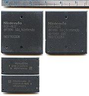 Nintendo 64 chipset: CPU, RCP, and RDRAM.