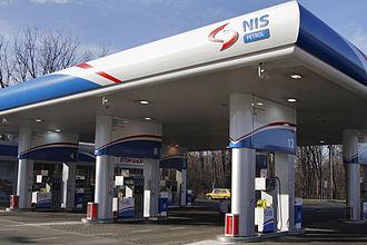 Naftna Industrija Srbije - NIS Petrol filling station in Belgrade