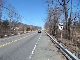 New Jersey Route 15 - Route 15 northbound after Route 181
