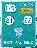 Nơi giao cắt của I-78, US 1-9, US 22, và NJ 21.