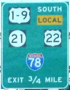 NJ guide sign