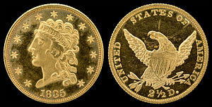 "Quarter eagle - 1835 ""Classic Head"" quarter eagle"