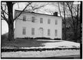 NORTH (FRONT) ELEVATION FROM NORTHEAST. - Stainton House, 1735 Ellis Hollow Road, Ithaca, Tompkins County, NY HABS NY,55-ITH.V,1-4.tif