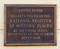 NRHP plaque, Lyford House.jpg