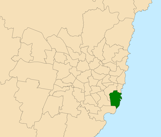 Electoral district of Maroubra - Location within Sydney