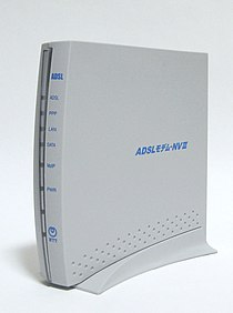 NTT East ADSL modem-NVIII.jpg