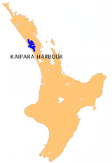 Location of Kaipara Harbour