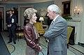 Nancy Reagan talking to Don Regan in Diplomatic Reception Room.jpg