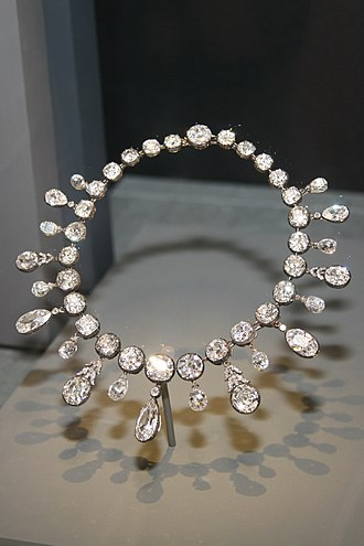 Napoleon Diamond Necklace - The Napoleon Diamond Necklace on display at the Smithsonian Institution in Washington, D.C.