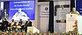 Narendra Modi addressing at the inauguration of the Multimodal Manufacturing Project of GE, at Chakan, in Pune. The Chief Minister of Maharashtra, Shri Devendra Fadnavis, the Minister of State for Environment.jpg