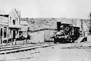 Natal Railway 0-4-0WT Natal - Natal arriving at Point Station on its inaugural run in June 1860