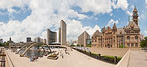 Nathan Phillips Square - Panoramic view of Nathan Phillips square in 2011.