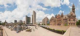 Nathan Phillips Square - Panoramic view of Nathan Phillips Square in 2011