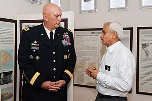 Sunil Lanba - Image: National Defense College Commandant Vice Admiral Sunil Lanba gives U.S. Army Chief of Staff Gen. Raymond T. Odierno a tour of the college's archive display