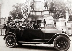 National Woman's Party suffragists driving through Richmond's Capitol Square.jpg