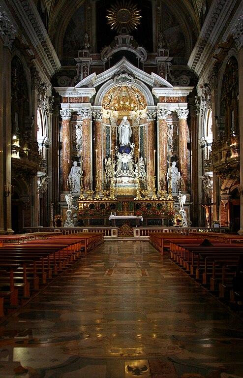 Autel de l'église Gesu Nuovo à Naples. Photo de José Luiz.