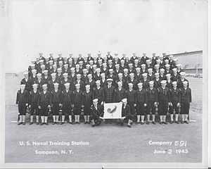 Sampson Air Force Base - Navy graduate photo, Company 591 June 2, 1943