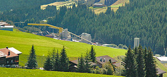Porta Alpina - Surface works for the tunnel at Sedrun.