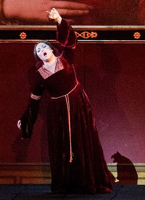 Il trovatore - Anna Netrebko (detail) as Leonora at the Salzburg Festival 2014
