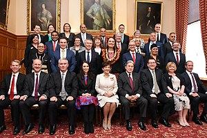 Cabinet of New Zealand - The ministers of the Sixth Labour Government, with Governor-General Dame Patsy Reddy, 26 October 2017
