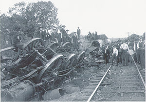 New Market train wreck - Photo of wreck