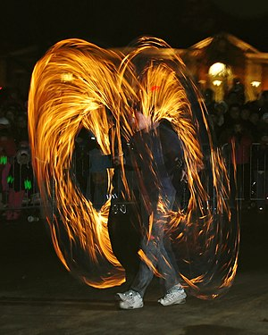 Fire Poi at Needham's New Year's Eve celebrati...