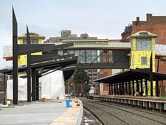 Meriden station - The new Meriden station under construction in December 2016