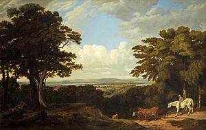 Newnham on Severn - Newnham-on-Severn from Dean Hill by William Turner of Oxford acquired for Gloucester City Museum & Art Gallery in 1977 with help from The Art Fund.