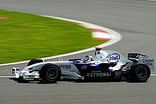 Nick Heidfeld a Silverstone nel 2007.