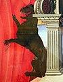 Nicola di maestro antonio d'ancona, madonna col bambino in trono tra santi, 1472, 06 leone con spina nella zampa.jpg