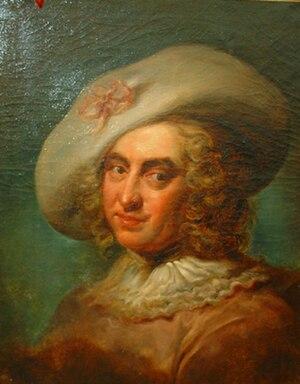 Nicolas Chédeville - Nicolas Chédeville, painting by Aléxis Grimou.